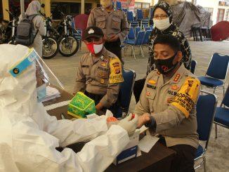 Kapolresta Banda Aceh Kombes Pol Trisno Riyanto, SH melakukan rapid test
